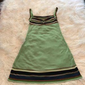MISSONI SUMMER GREEN STRIPED DRESS EUC